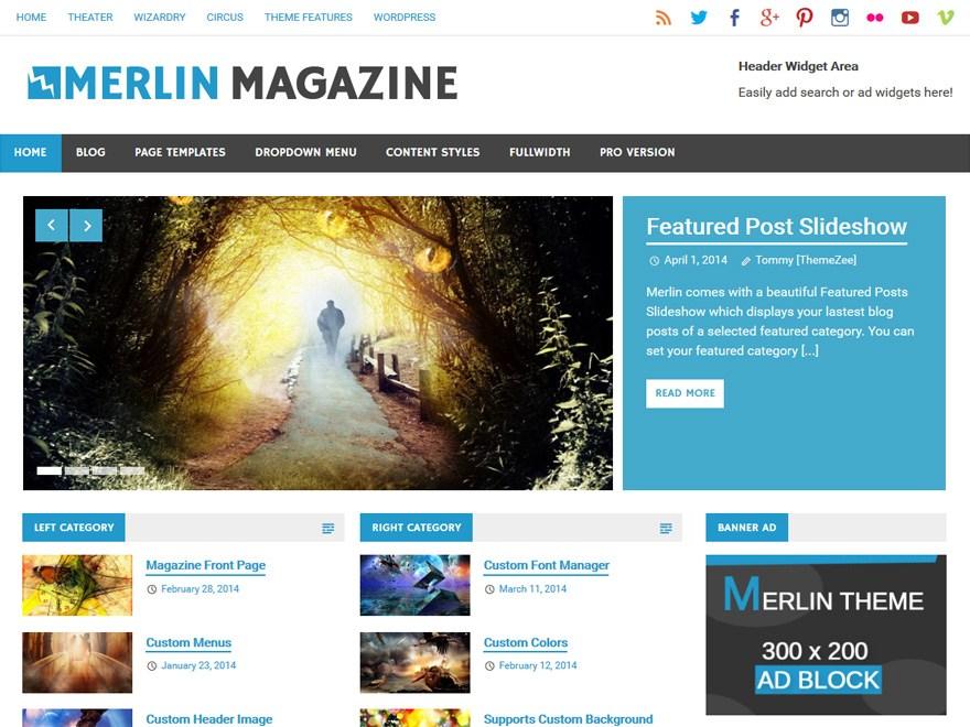 Download Merlin 1.3 – Free WordPress Theme