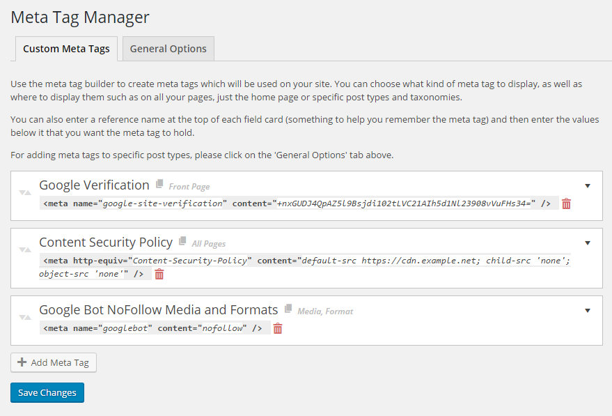 Download Meta Tag Manager 2.1 – Free WordPress Plugin