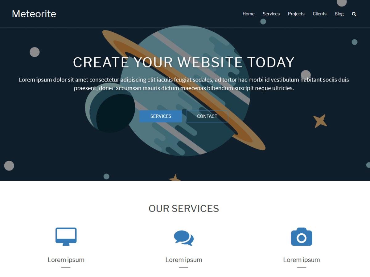 Download Meteorite 2.0 – Free WordPress Theme