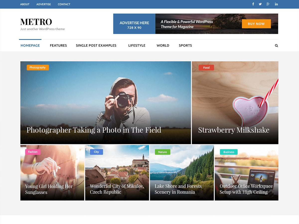 Download Metro Magazine 1.2.2 – Free WordPress Theme
