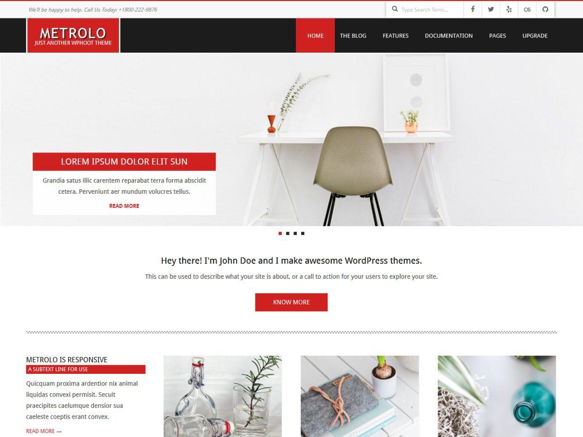 Download Metrolo 1.6.7 – Free WordPress Theme