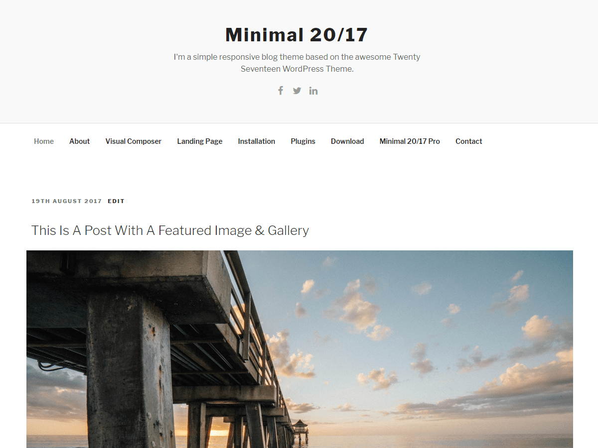 Download Minimal 20/17 1.0.5 – Free WordPress Theme
