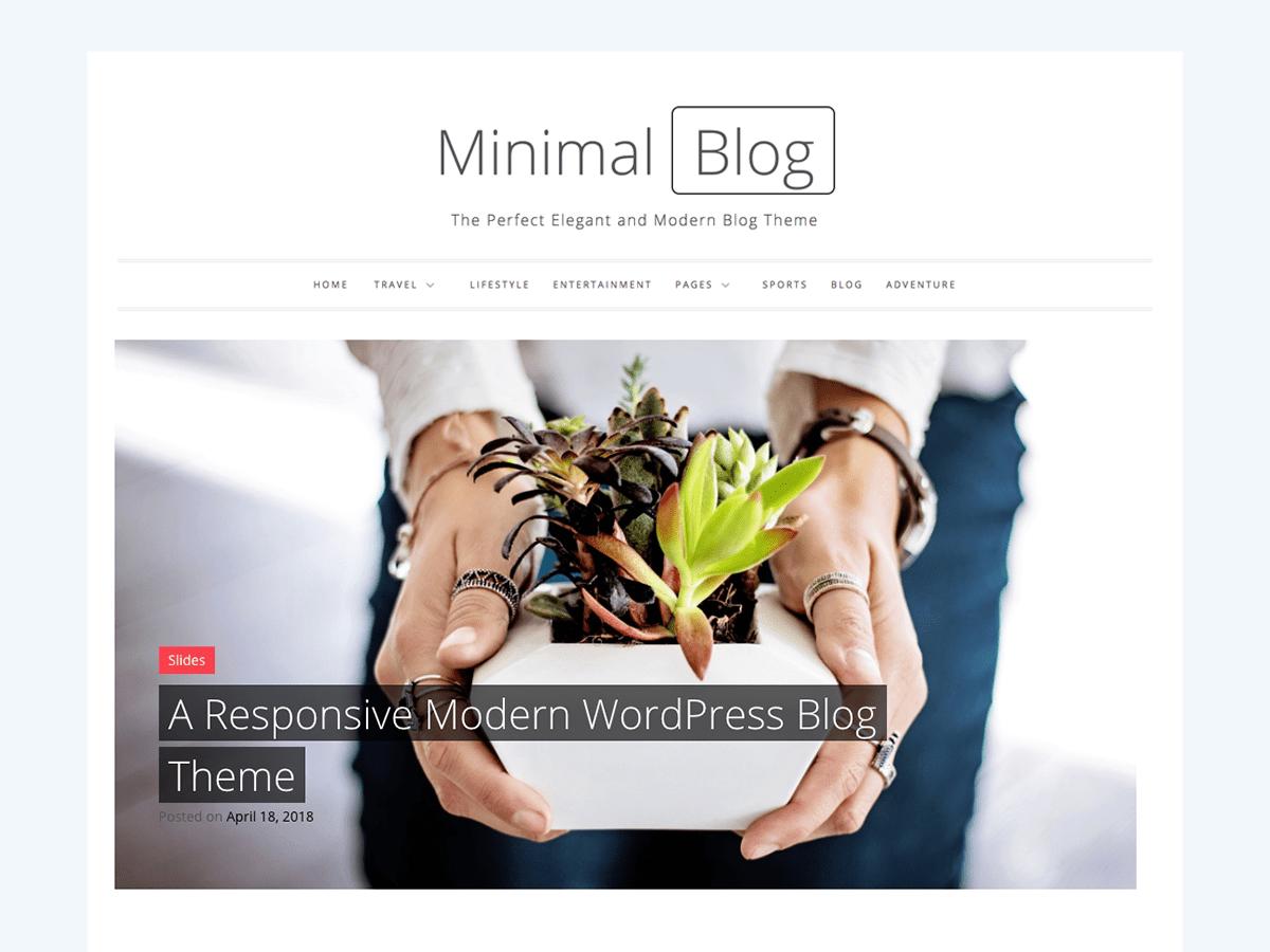 Download Minimal Blog 1.0.5 – Free WordPress Theme