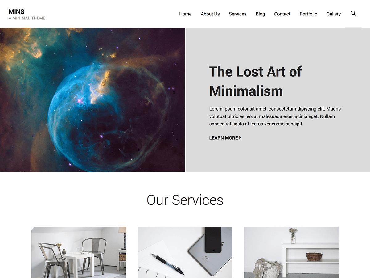 Download Mins 1.1.4 – Free WordPress Theme