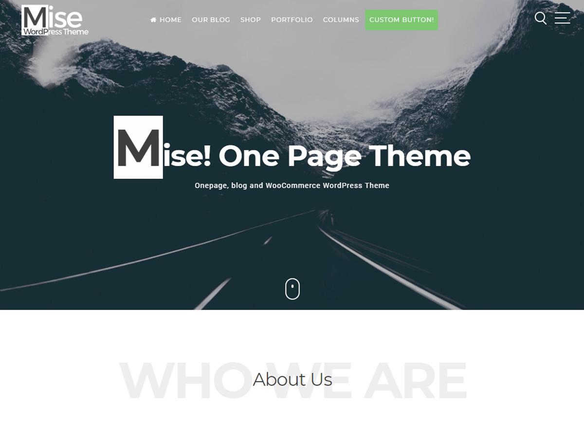 Download Mise 1.4.8 – Free WordPress Theme