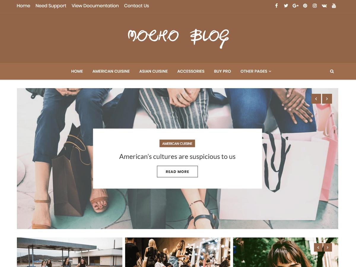 Download Mocho Blog 1.0.1 – Free WordPress Theme