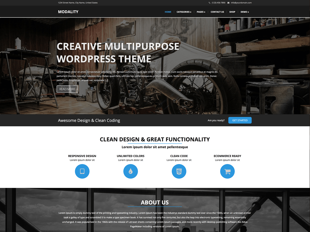 Download Modality 1.0.5.2 – Free WordPress Theme