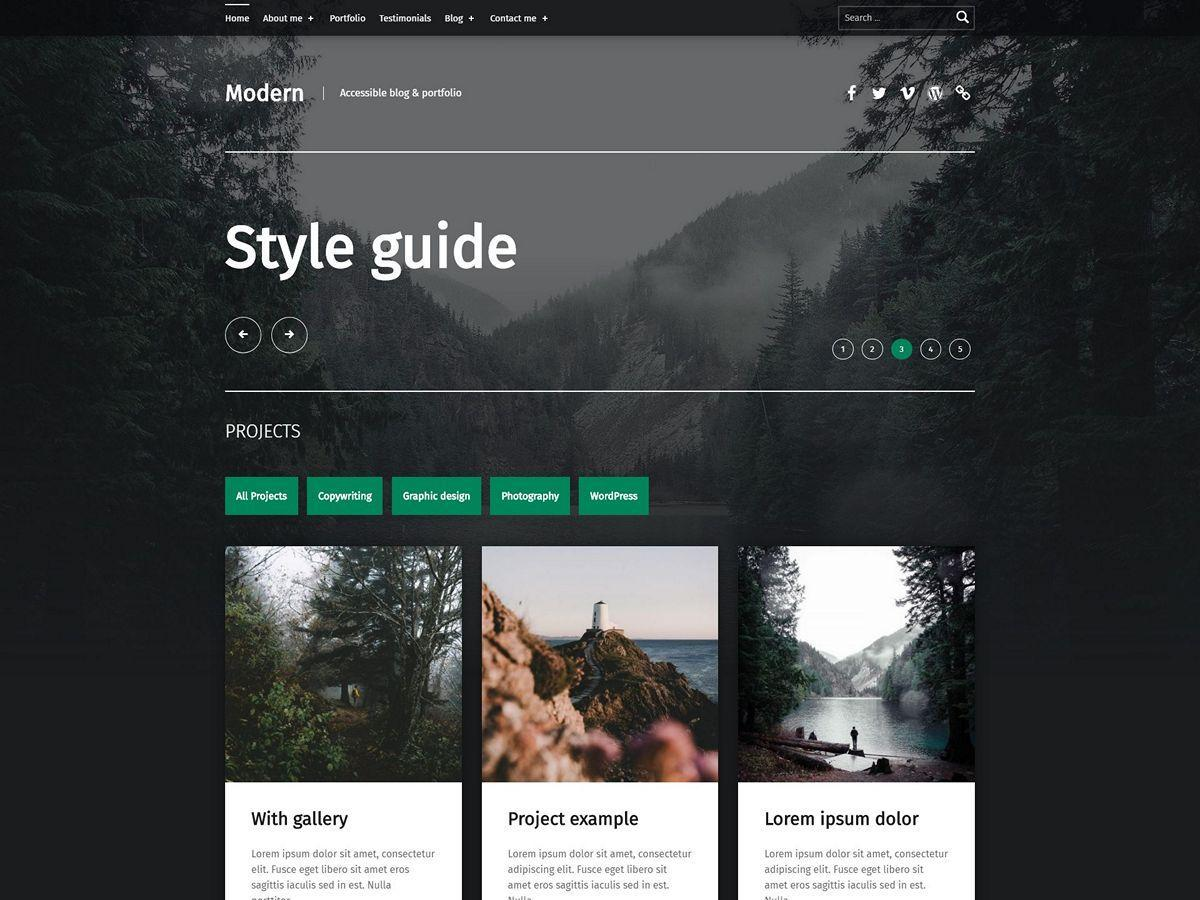 Download Modern 2.2.2 – Free WordPress Theme