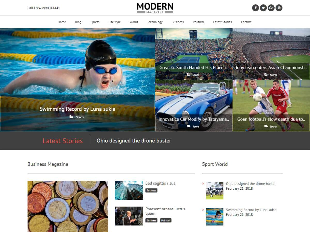 Download Modern Magazine 1.0.4 – Free WordPress Theme