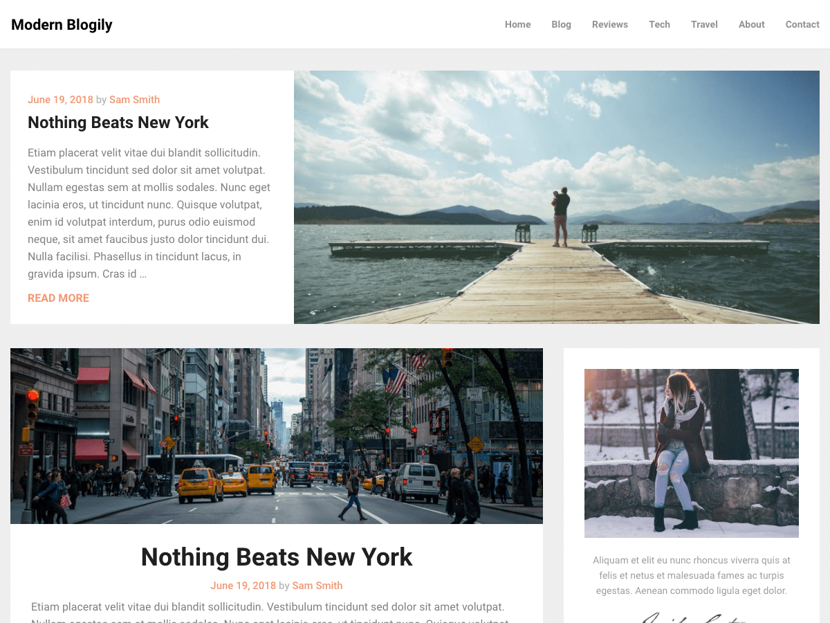Download ModernBlogily 0.2 – Free WordPress Theme