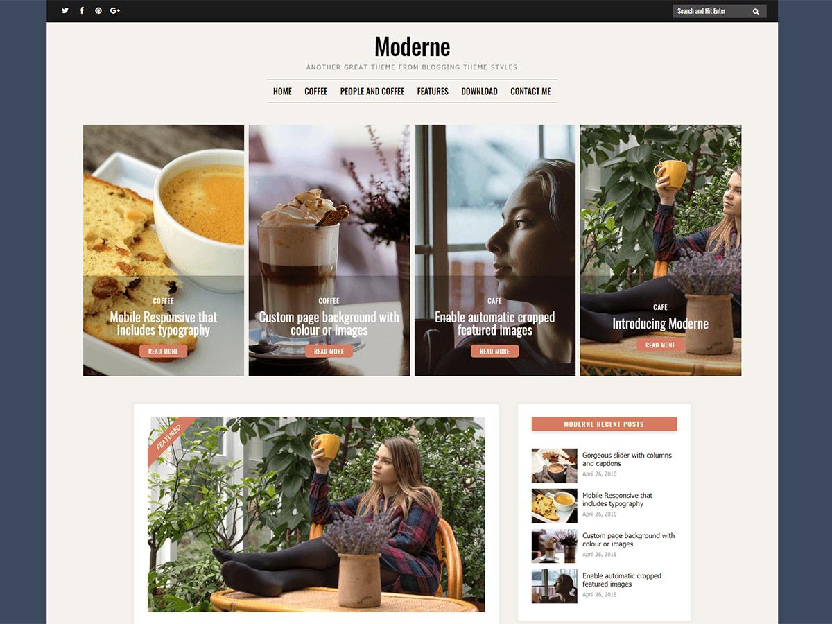 Download Moderne 1.0.0 – Free WordPress Theme