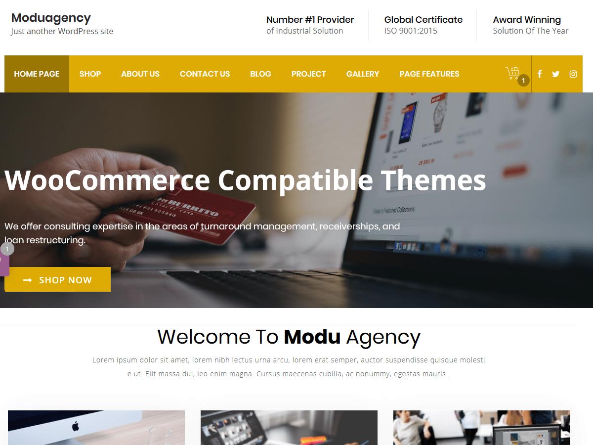 Download ModuAgency 1.6 – Free WordPress Theme