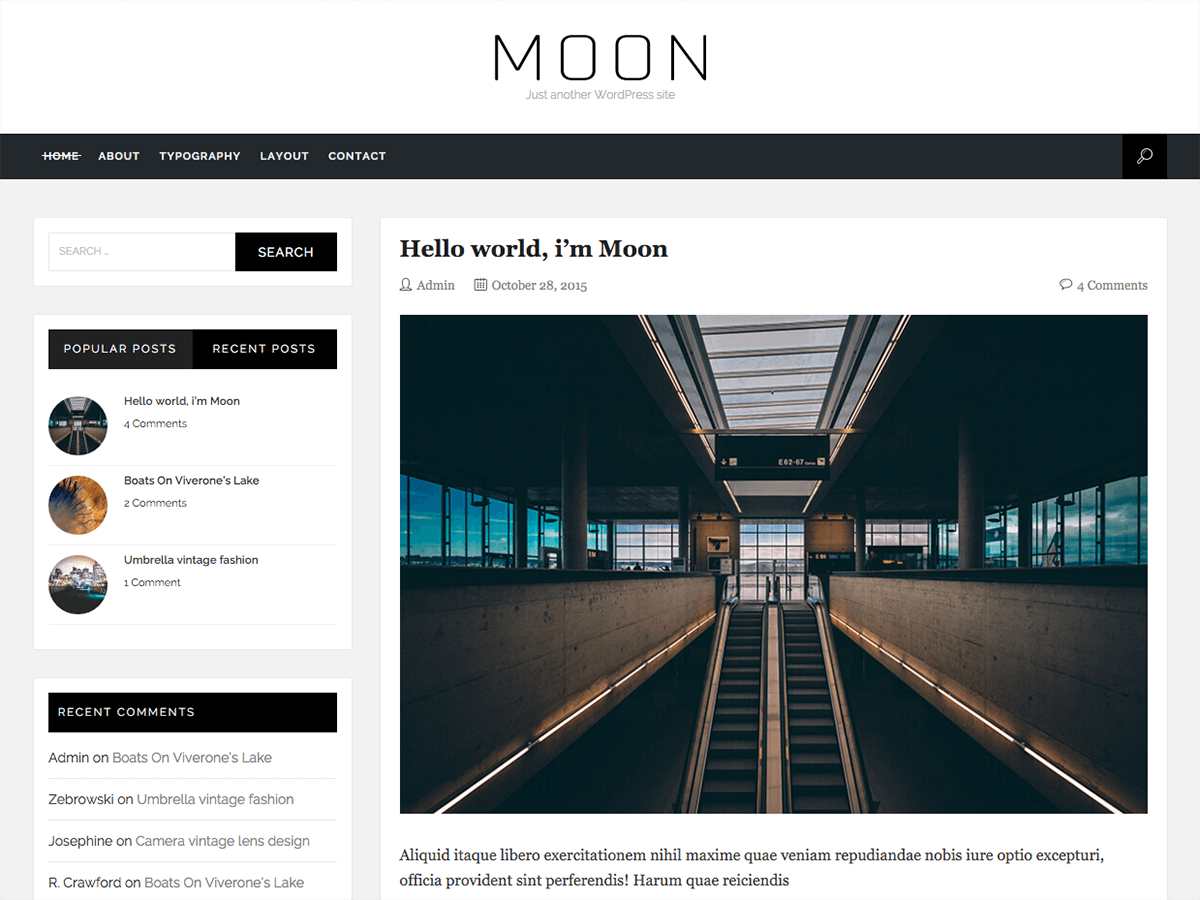 Download Moon 1.4 – Free WordPress Theme