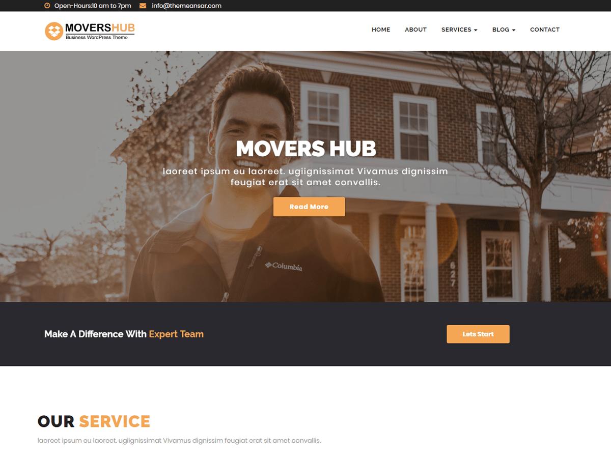 Download Movershub 0.2 – Free WordPress Theme