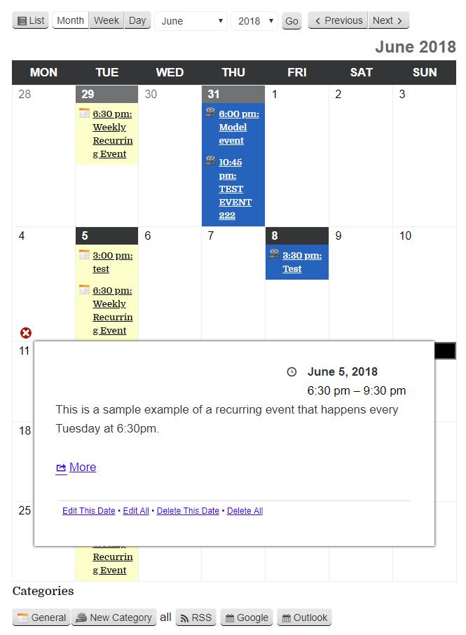 Download My Calendar 3.0.18 – Free WordPress Plugin