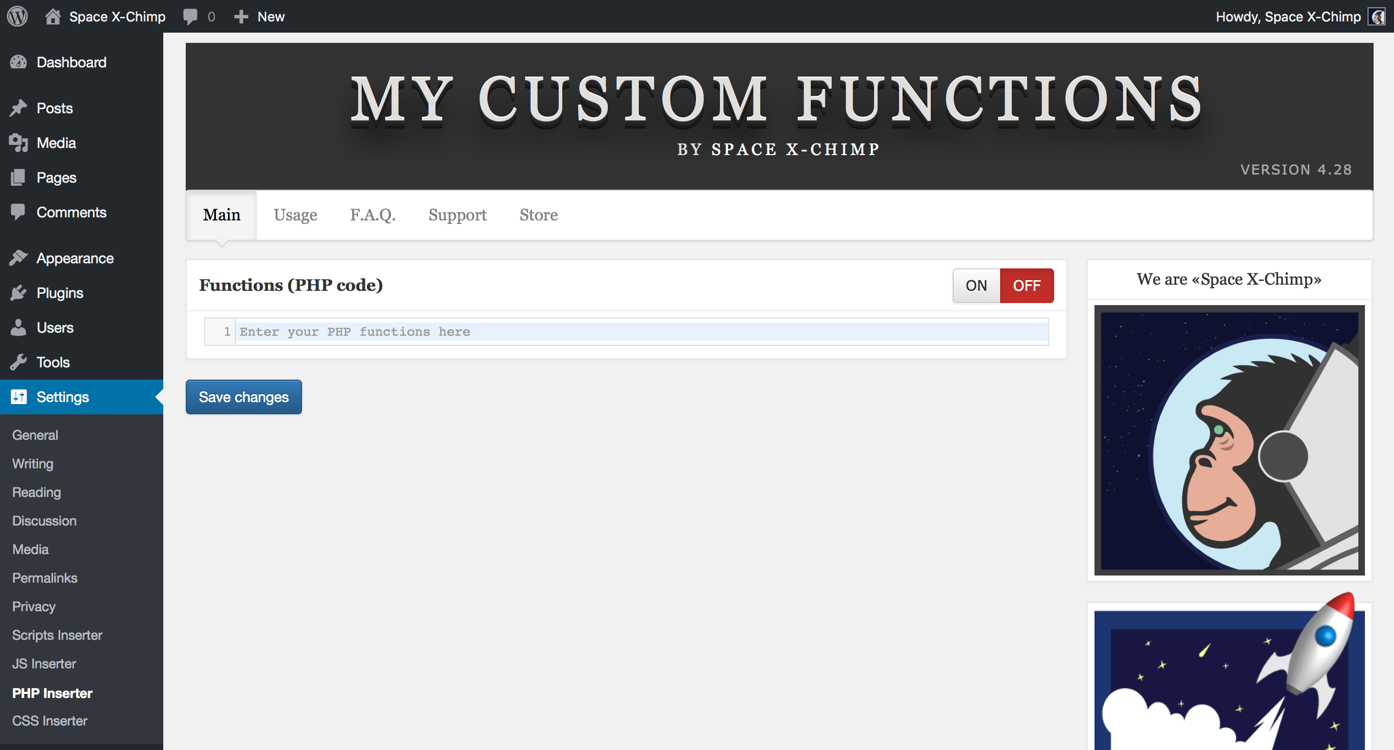 Download My Custom Functions 4.29 – Free WordPress Plugin