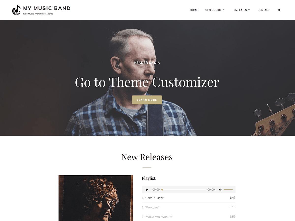 Download My Music Band 1.2.3 – Free WordPress Theme