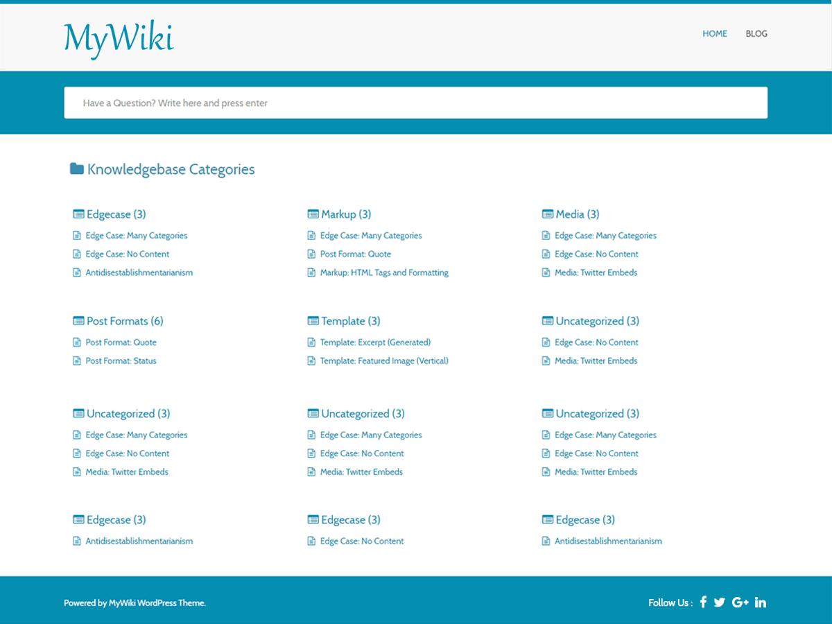 Download MyWiki 3.0.1 – Free WordPress Theme