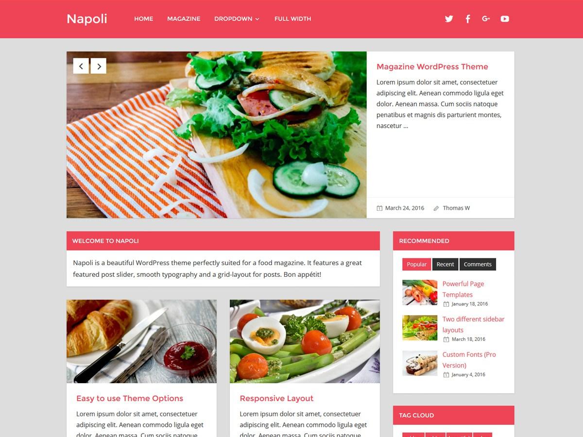 Download Napoli 1.5.2 – Free WordPress Theme
