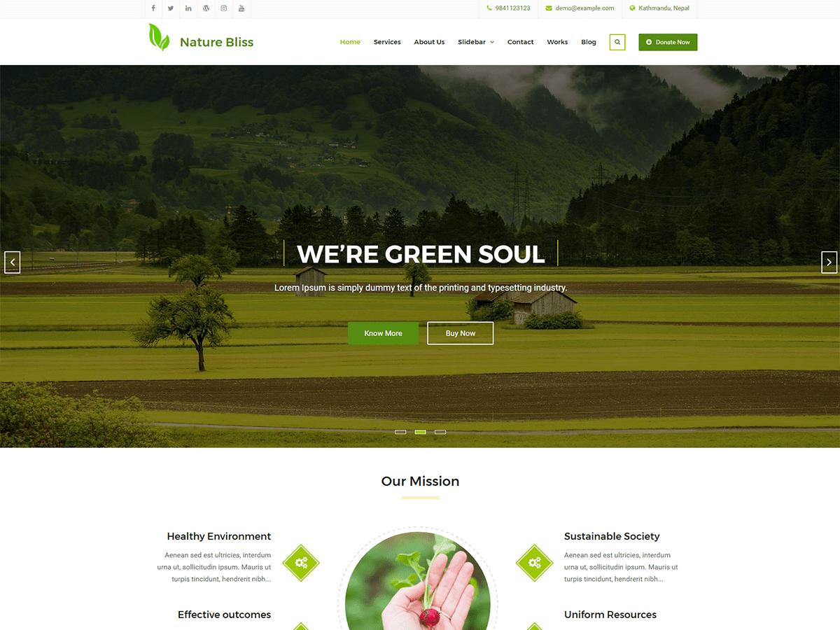 Download Nature Bliss 1.0.3 – Free WordPress Theme