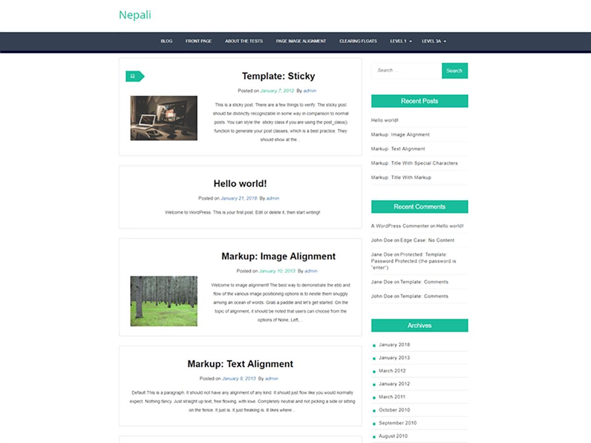 Download Nepali 1.0.3 – Free WordPress Theme