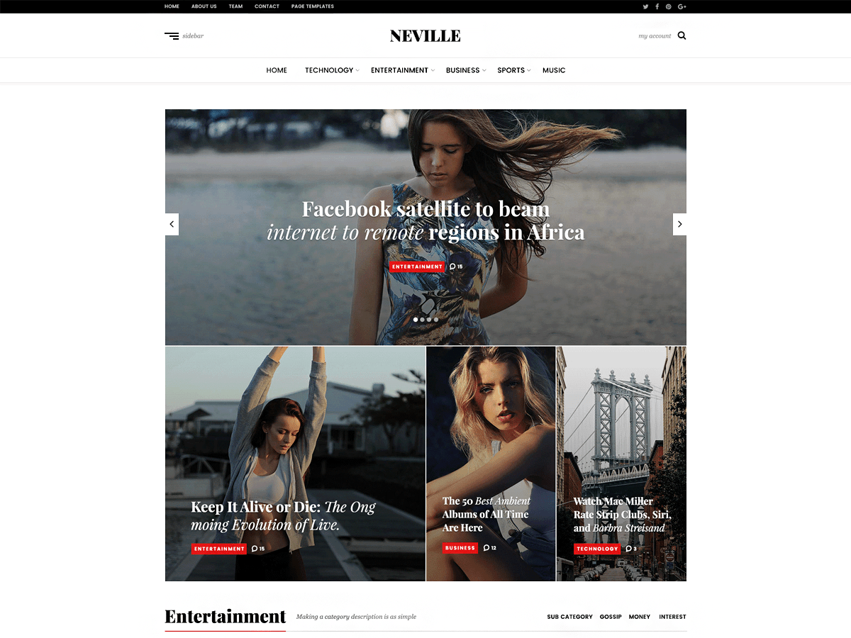 Download Neville 1.0.1 – Free WordPress Theme