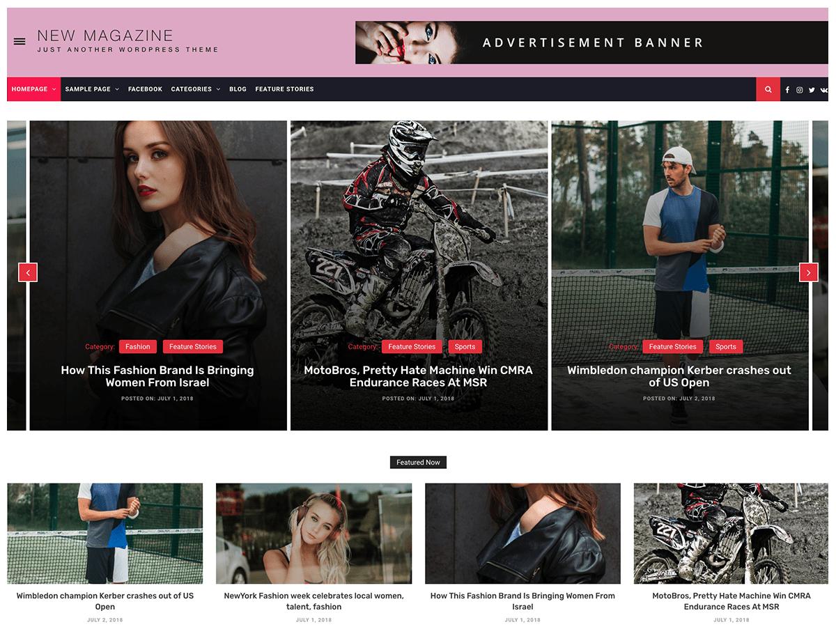 Download New Magazine 1.0.0 – Free WordPress Theme
