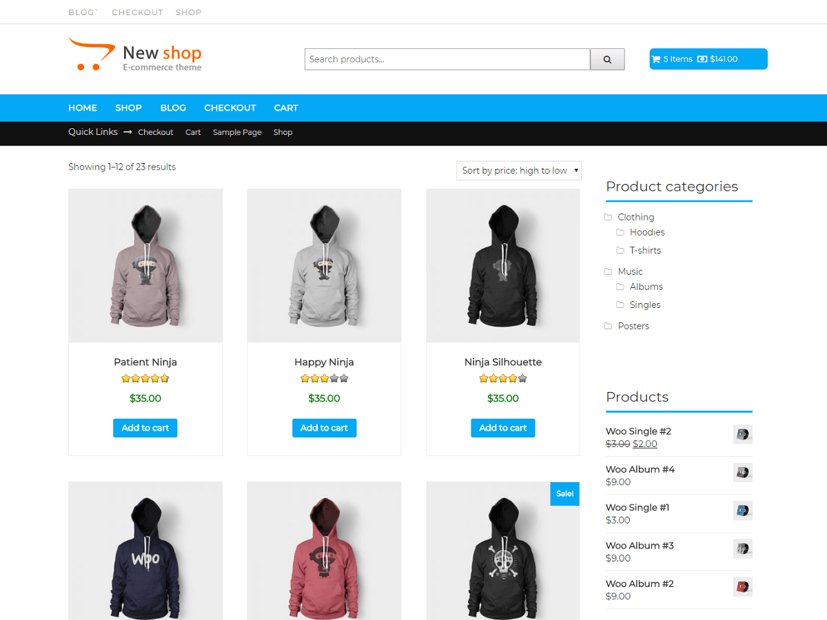 Download New Shop 1.0.5 – Free WordPress Theme