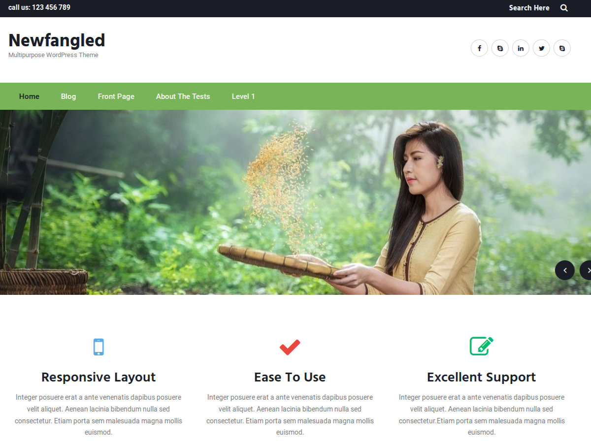 Download Newfangled 1.0.8 – Free WordPress Theme