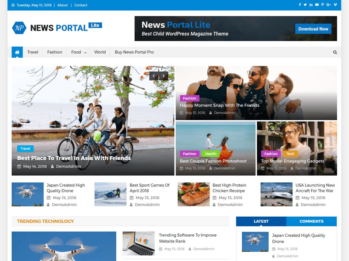 Download News Portal Lite 1.0.0 – Free WordPress Theme
