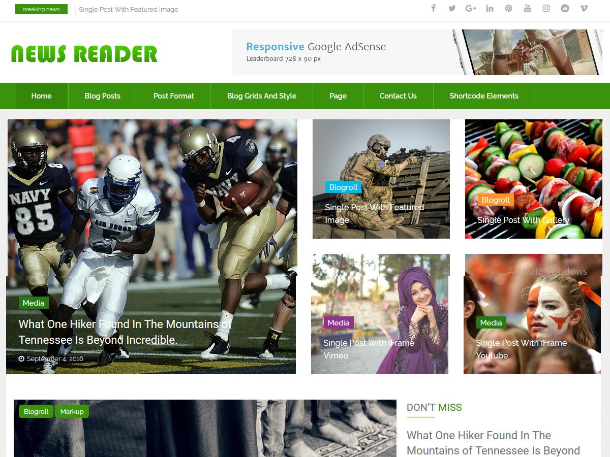 Download News Reader 2.0 – Free WordPress Theme