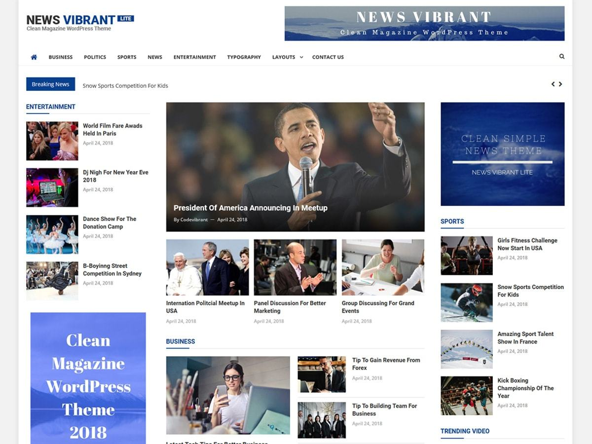 Download News Vibrant Lite 1.0.1 – Free WordPress Theme