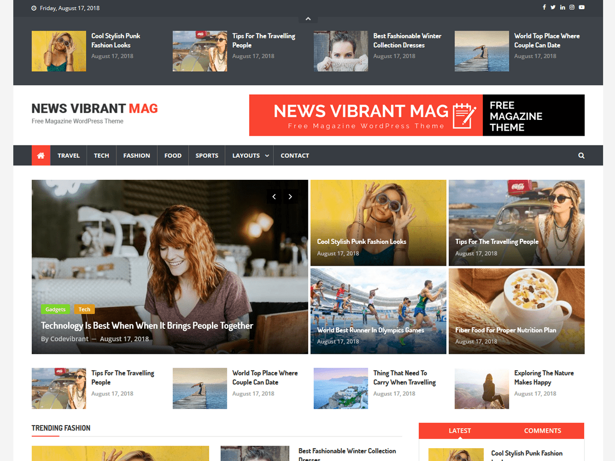 Download News Vibrant Mag 1.0.0 – Free WordPress Theme