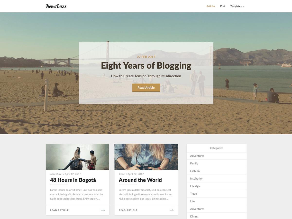 Download Newsbuzz 3.9 – Free WordPress Theme