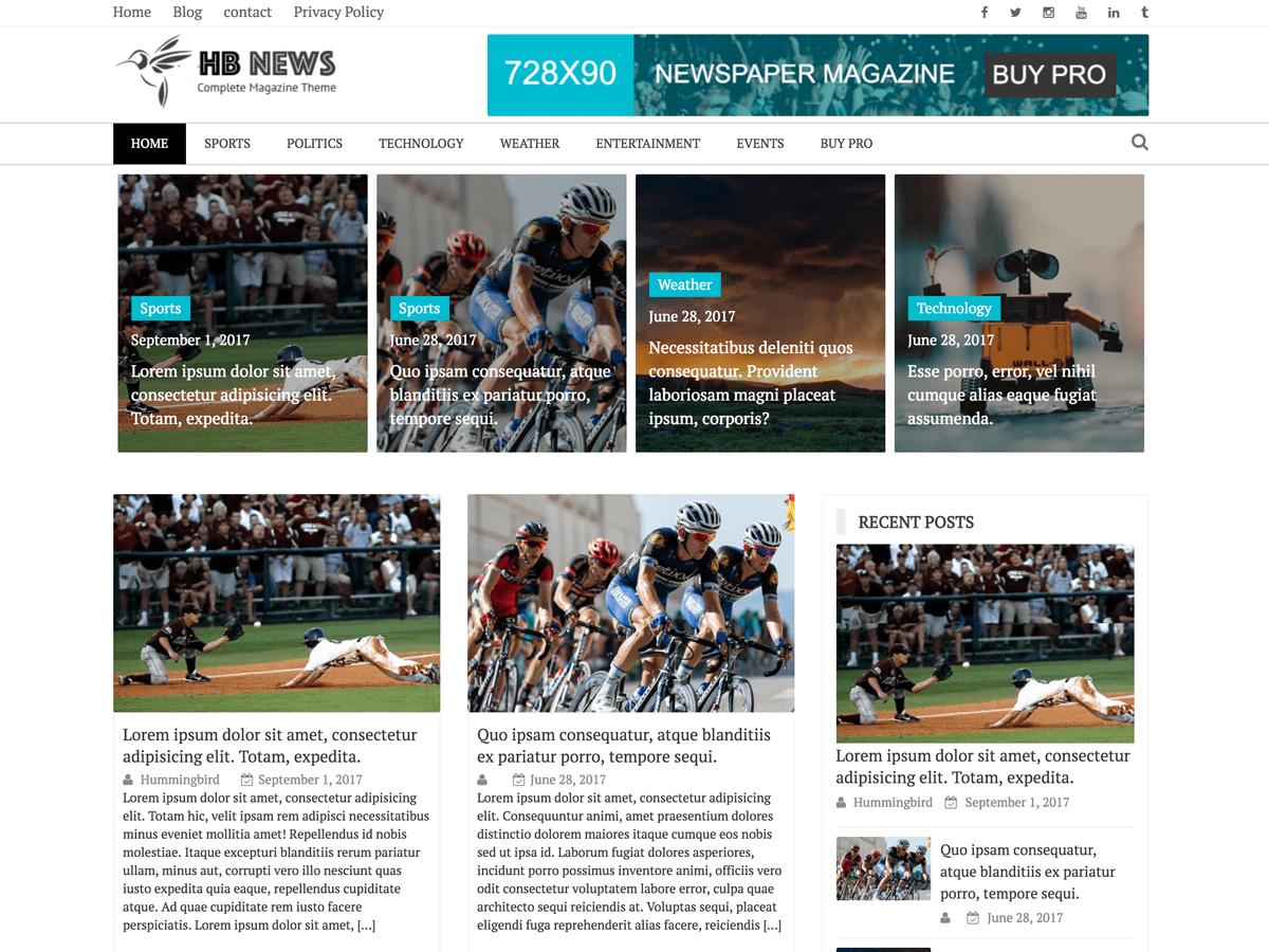 Download Newspaper Magazine 1.2.5 – Free WordPress Theme