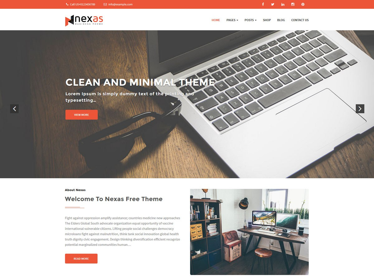Download Nexas 1.0.5 – Free WordPress Theme