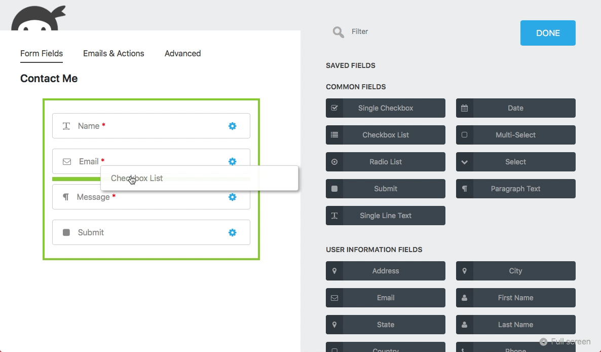 Download Ninja Forms – The Easy and Powerful Forms Builder 3.3.16 – Free WordPress Plugin