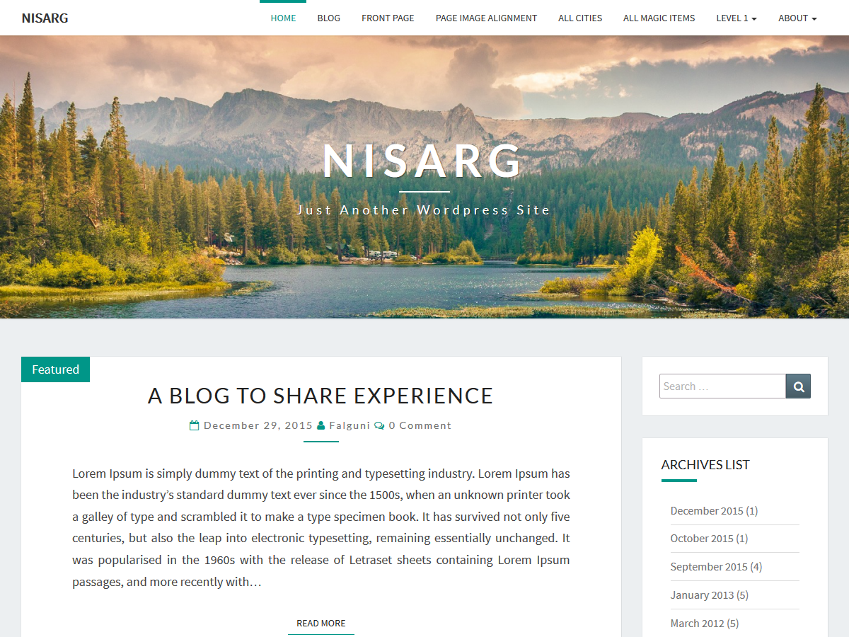 Download Nisarg 1.2.8.2 – Free WordPress Theme