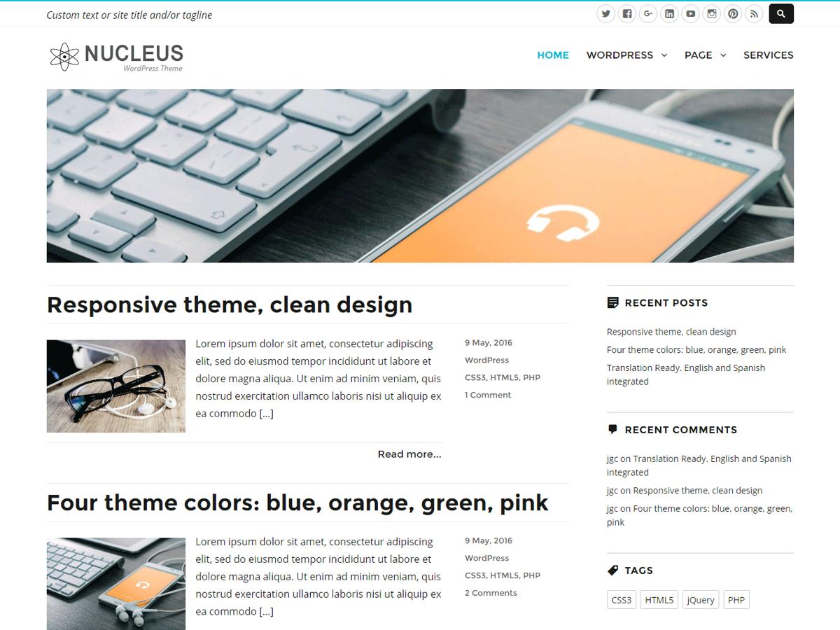 Download Nucleus 1.4.1 – Free WordPress Theme