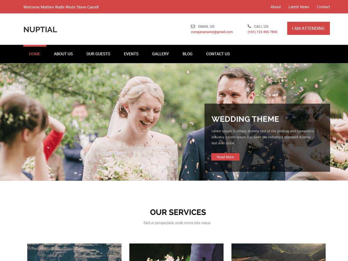 Download Nuptial 1.0.4 – Free WordPress Theme