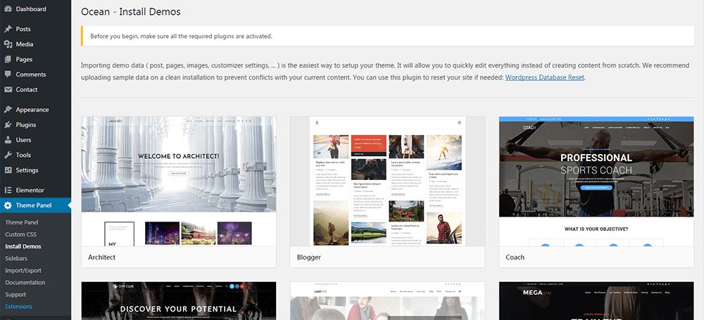 Download Ocean Demo Import 1.0.9 – Free WordPress Plugin