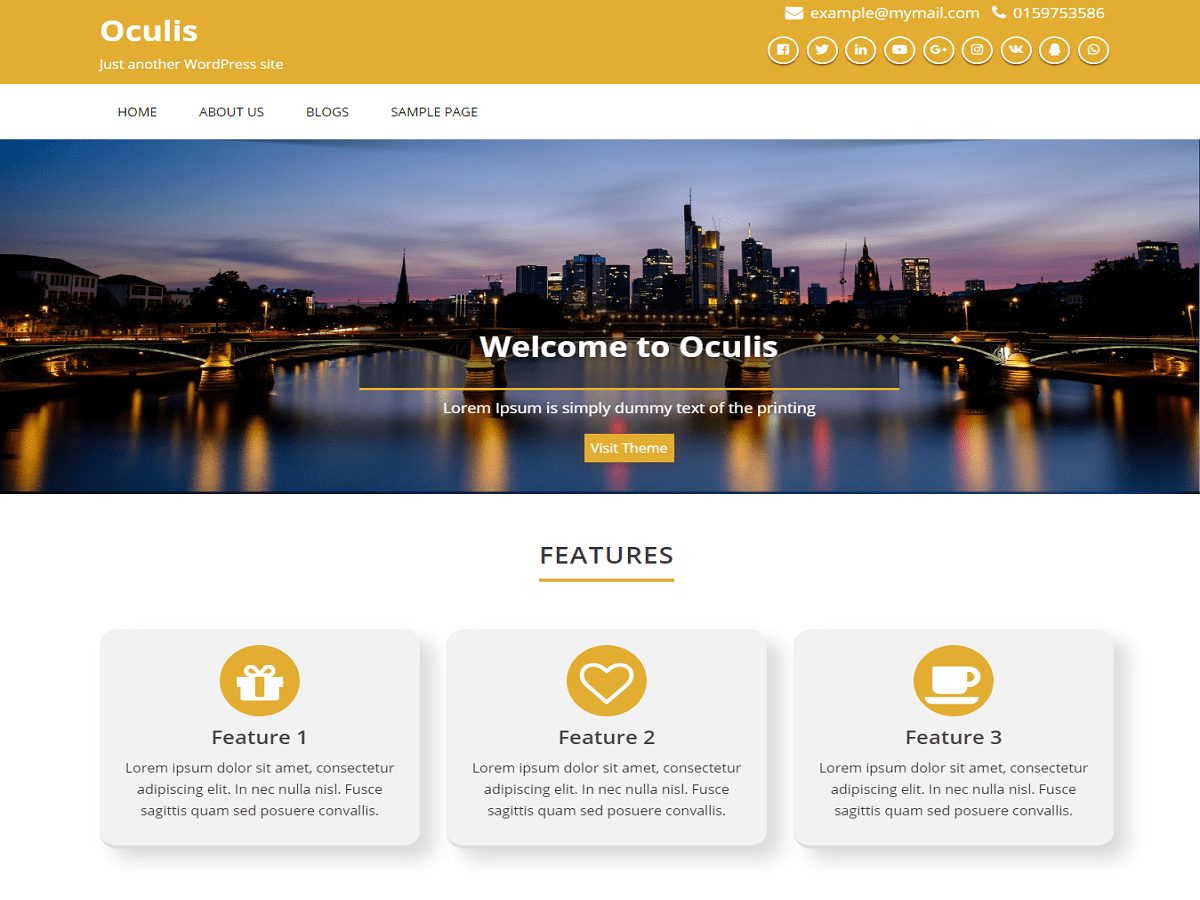 Download Oculis 1.3 – Free WordPress Theme