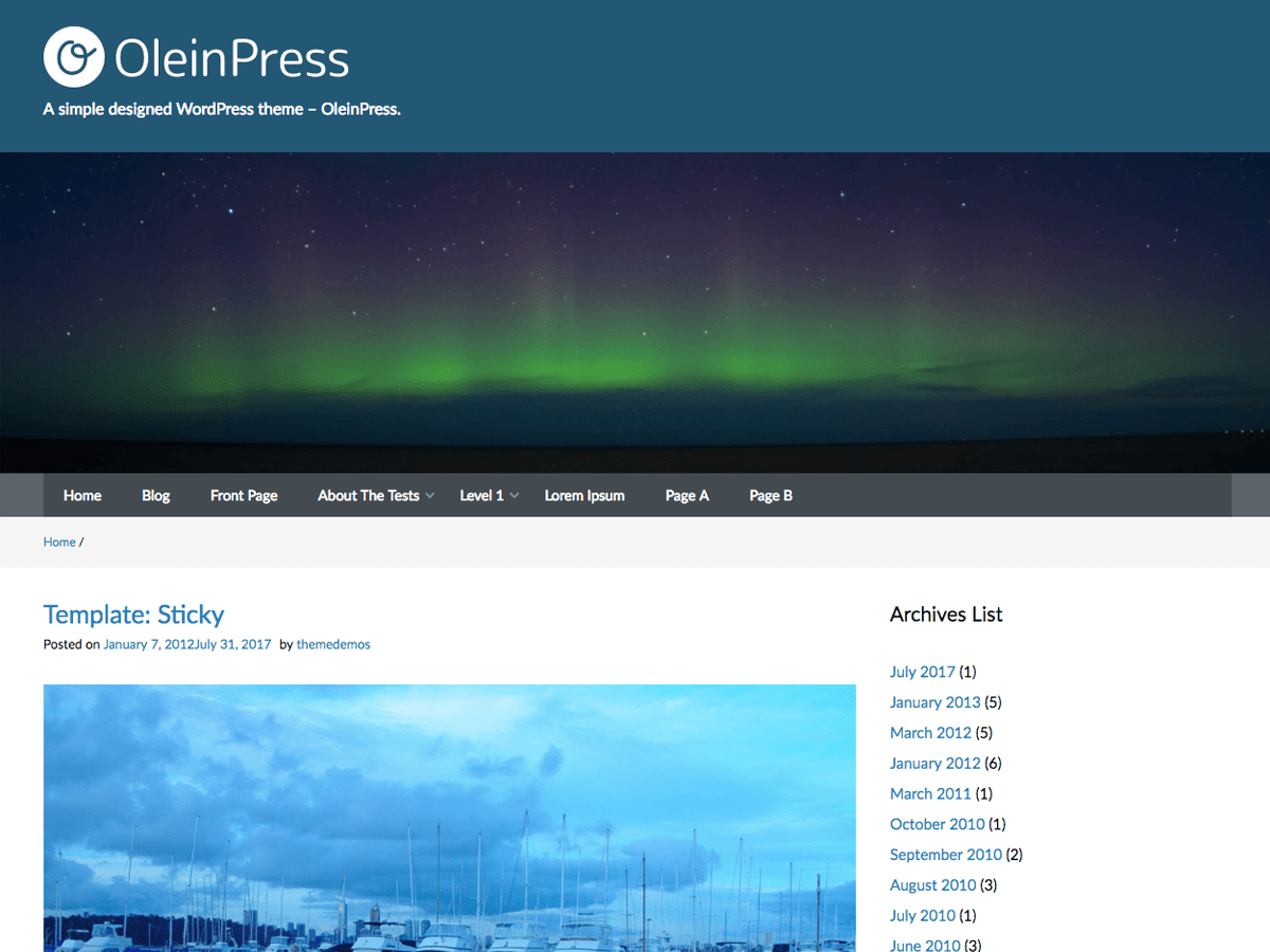 Download OleinPress 1.0.8 – Free WordPress Theme