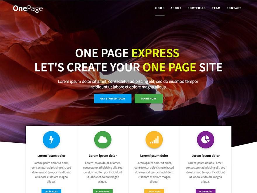 Download One Page Express 1.2.8 – Free WordPress Theme
