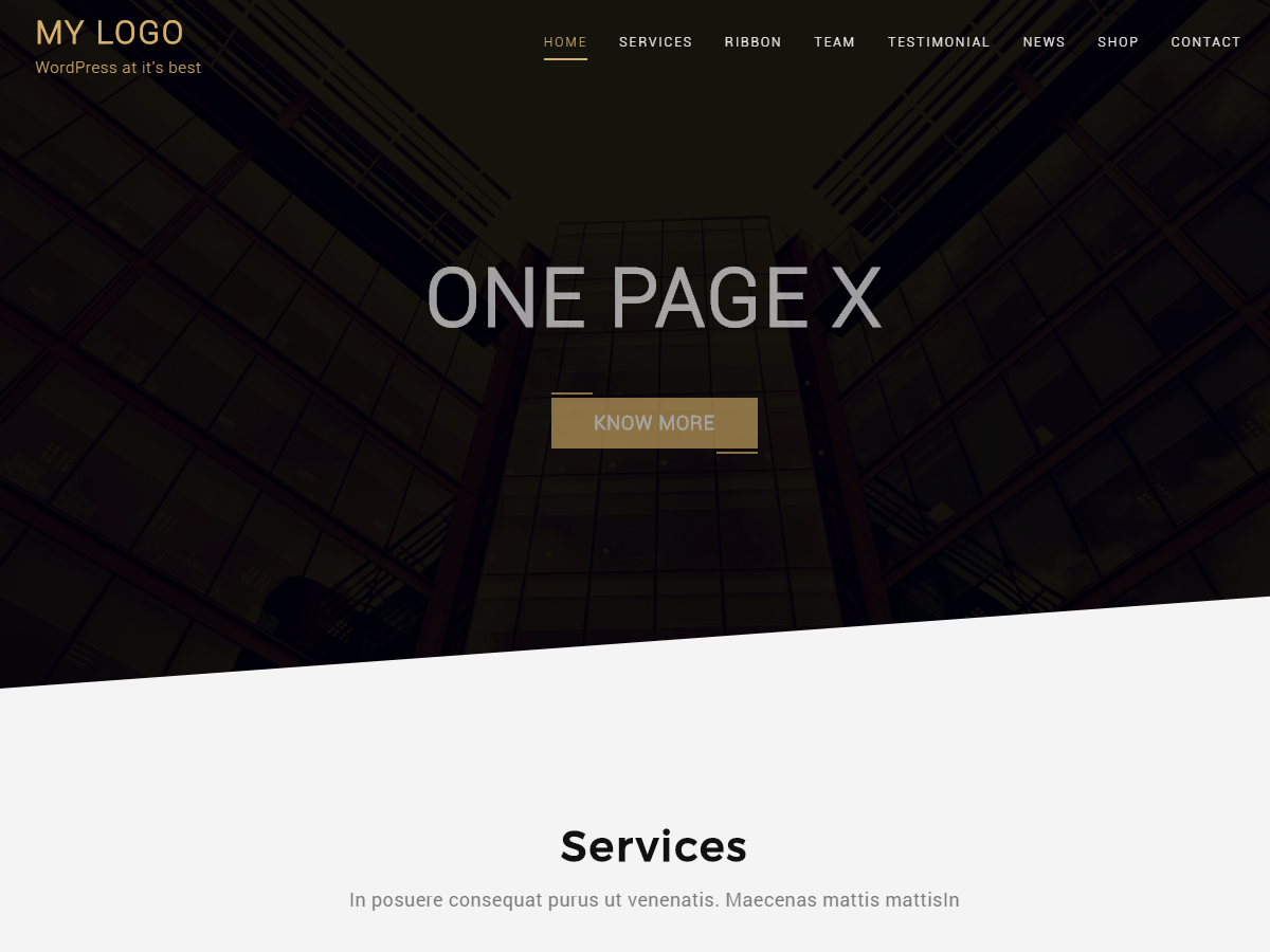 Download One Page X 1.0.1 – Free WordPress Theme