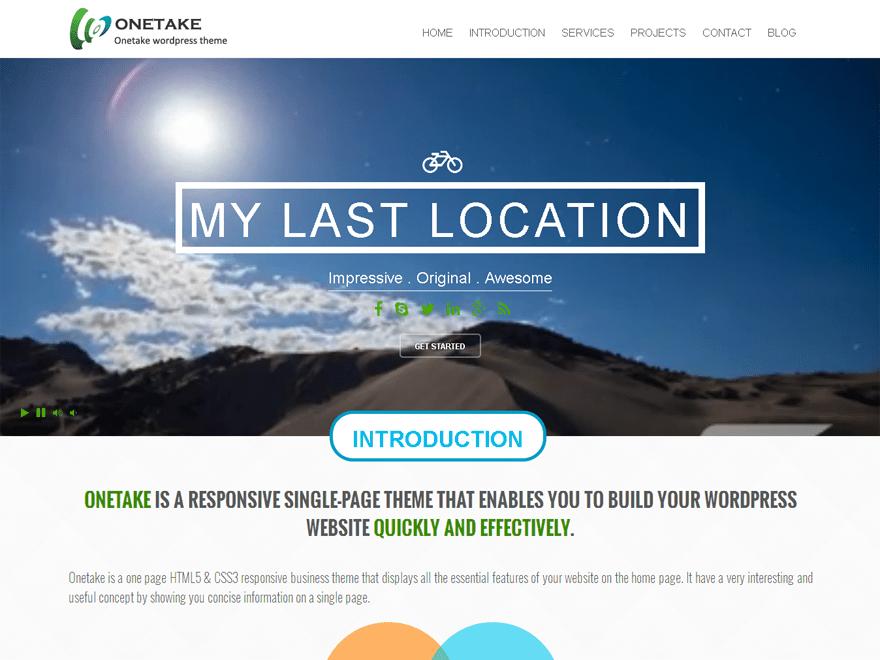 Download Onetake 1.3.1 – Free WordPress Theme