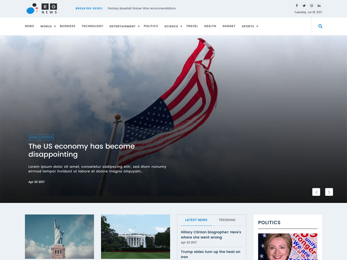 Download Online News 1.0.4 – Free WordPress Theme