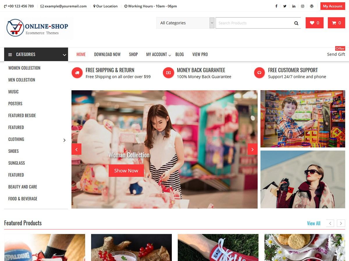 Download Online Shop 1.3.4 – Free WordPress Theme