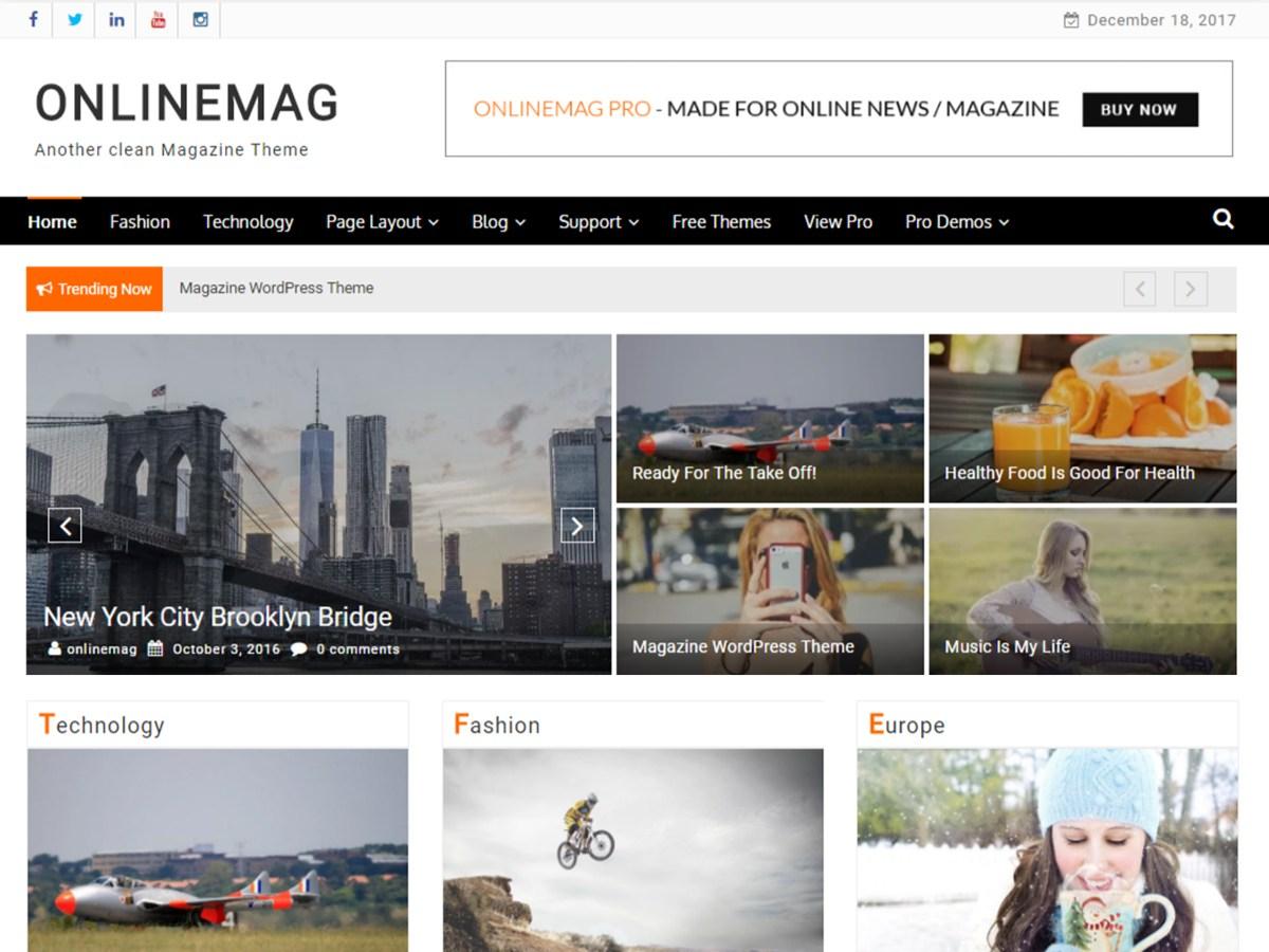 Download OnlineMag 1.1.0 – Free WordPress Theme