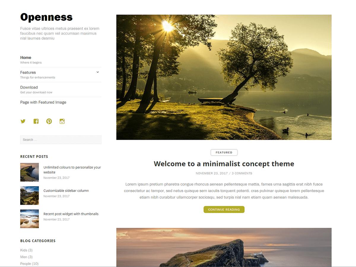 Download Openness 1.0.0 – Free WordPress Theme